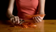 Woman peeling a carrot video