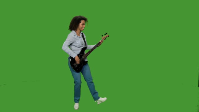 Woman playing guitar video