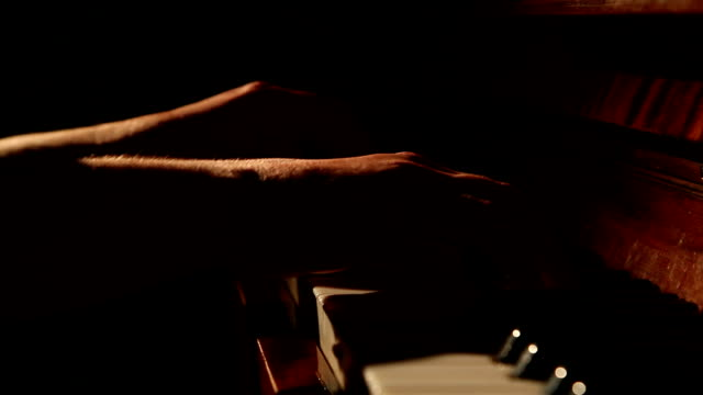 woman playing the piano video
