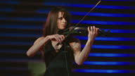 Woman playing violin video