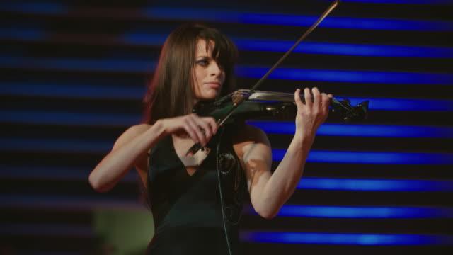 Woman playing violin video