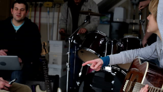 Woman plays guitar video