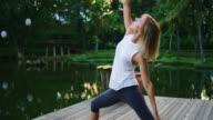 Woman Practicing Yoga video
