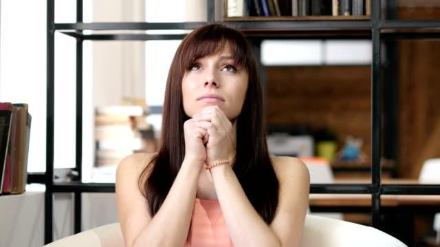 Woman praying to God, Wishing video