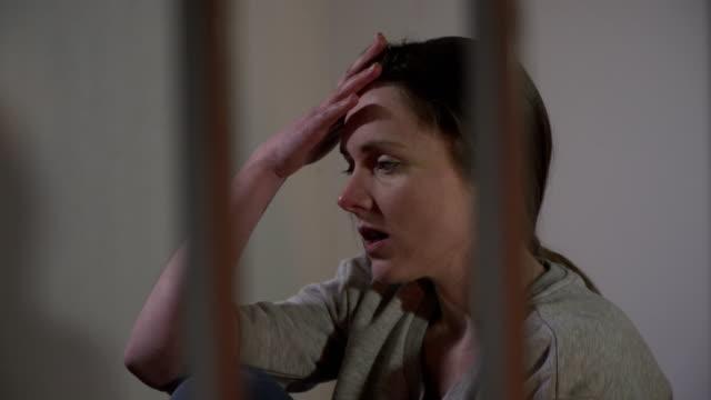 4K Woman Prisoner in Jail Cell very upset video
