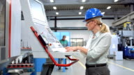 DS Woman Programming A CNC Machine video
