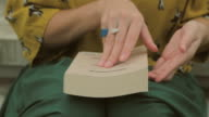 Woman reading a book video