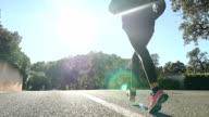 Woman runner video