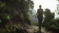 Woman Running in Tropical Hawaii video