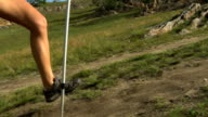 Woman Running on Mountain Trail. video