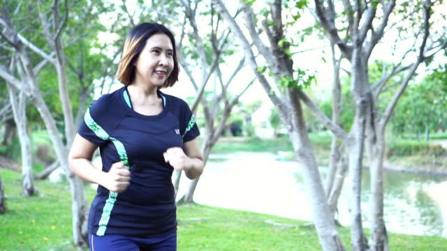 woman running video