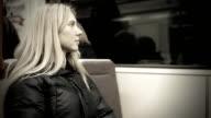 Woman seat in vagon subway video