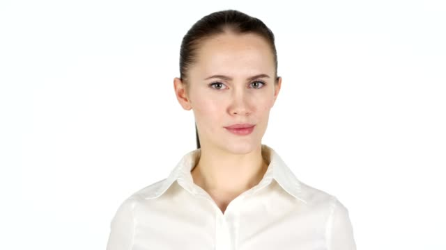 Woman Shaking Head, No video
