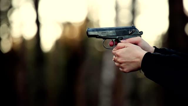 Woman shot with a gun video