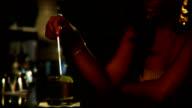 Woman Sits Alone At Bar video