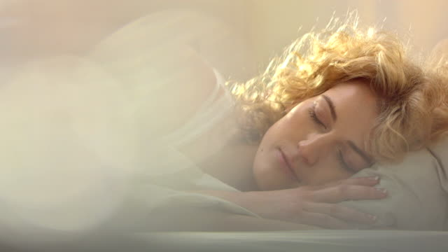 Woman Sleeping In The Morning video