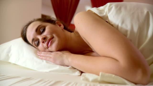 HD DOLLY: Woman Sleeping video
