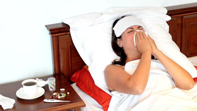 Woman Sneezing video