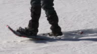 HD Woman Snowshoeing Close-up video