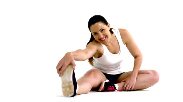 Woman stretching video