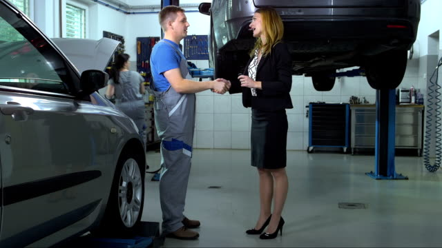 Woman Taking A Car To The Mechanic video