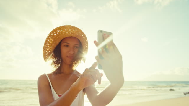 Woman Taking Selfie on Mobile Phone video