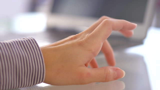 Woman tapping nervously with her hand video