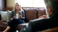 Woman tells therapist about a big problem video