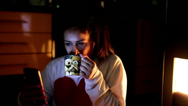 Woman using phone. video