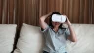 Woman using Virtual reality headset video