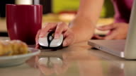 Woman using wireless mouse video