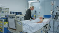 DS Woman visiting her husband on the ICU video