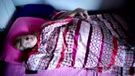 Woman waking up. video