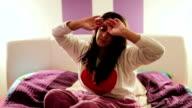 Woman waking  up video