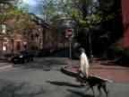 Woman Walking a Dog video