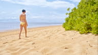 WS DS Woman Walking On The Sanur Beach video