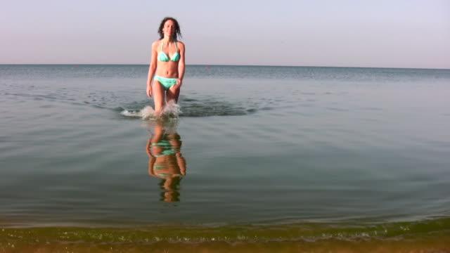 woman walking on water video