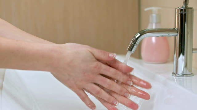 Woman Washing Her Hands video