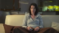 HD DOLLY: Woman Watching Television video