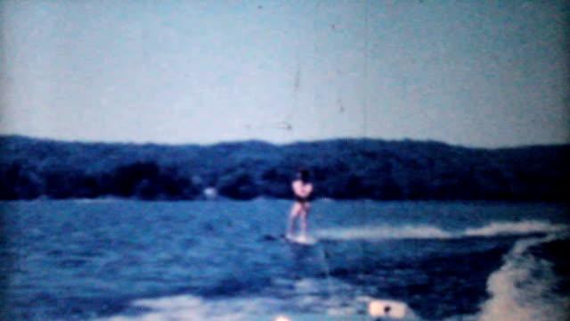 Woman Water Skiing On Lake-1962 Vintage 8mm film video