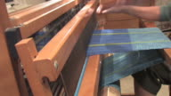 HD Woman Weaving With Loom 1 video