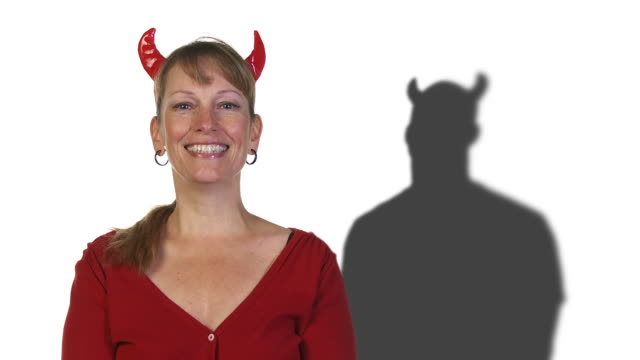 Woman with Devil Man video