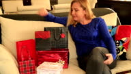 Woman with gift box video