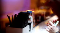 Woman with money on bar waiting for drink video