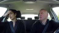 Woman With Nausea In Car Motion Sickness Sick People Travel video