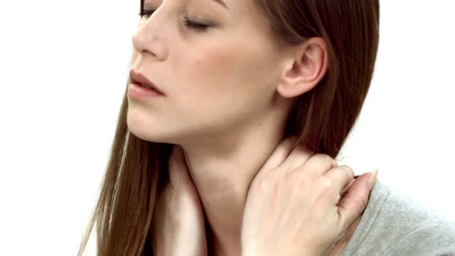 HD DOLLY: Woman With Neck Pain video