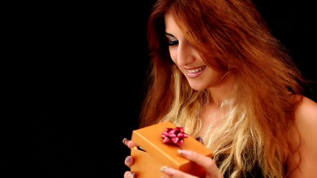 Woman with present video