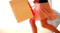 Woman with Shopping Bags video