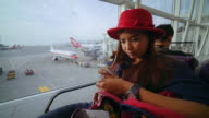 Woman With Smartphone In Airport video