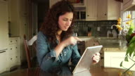 Woman with Tablet Computer video